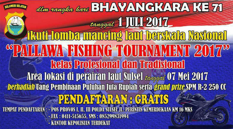 Polda Sumsel Akan Gelar Pallawa Fishing Tournament 2017