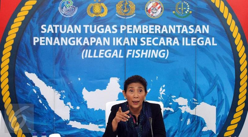 Menteri Susi Anggap Pemberantasan Illegal Fishing Belum Usai