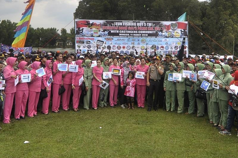 Deklarasi Gerakan Anti Hoax Pada Momentum Lomba Mancing HUT Kodim 0509