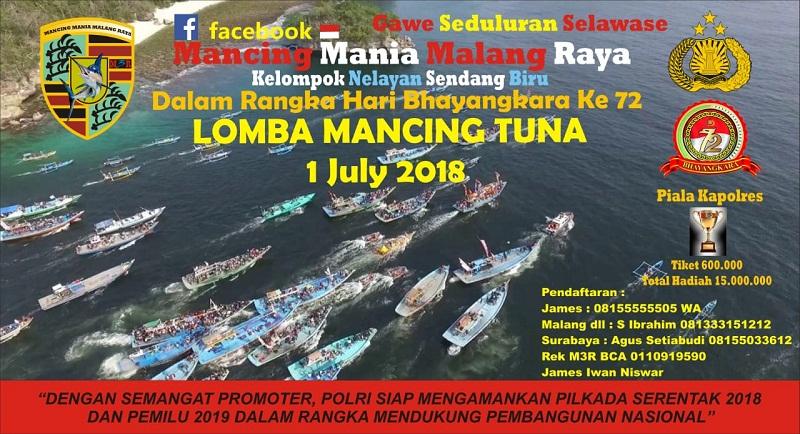 Polres Malang Bersama M3R Gelar Lomba Mancing Tuna