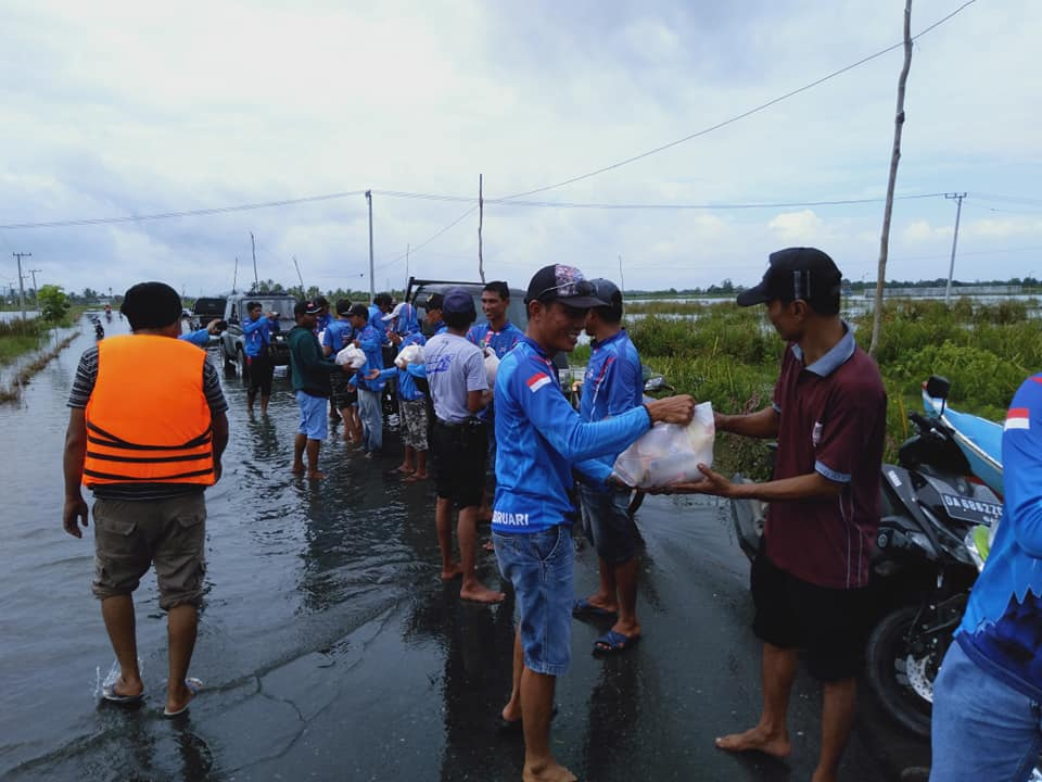 Komunitas Mancing Tanah Bumbu Kompak Galang Bantuan Bagi Korban Banjir