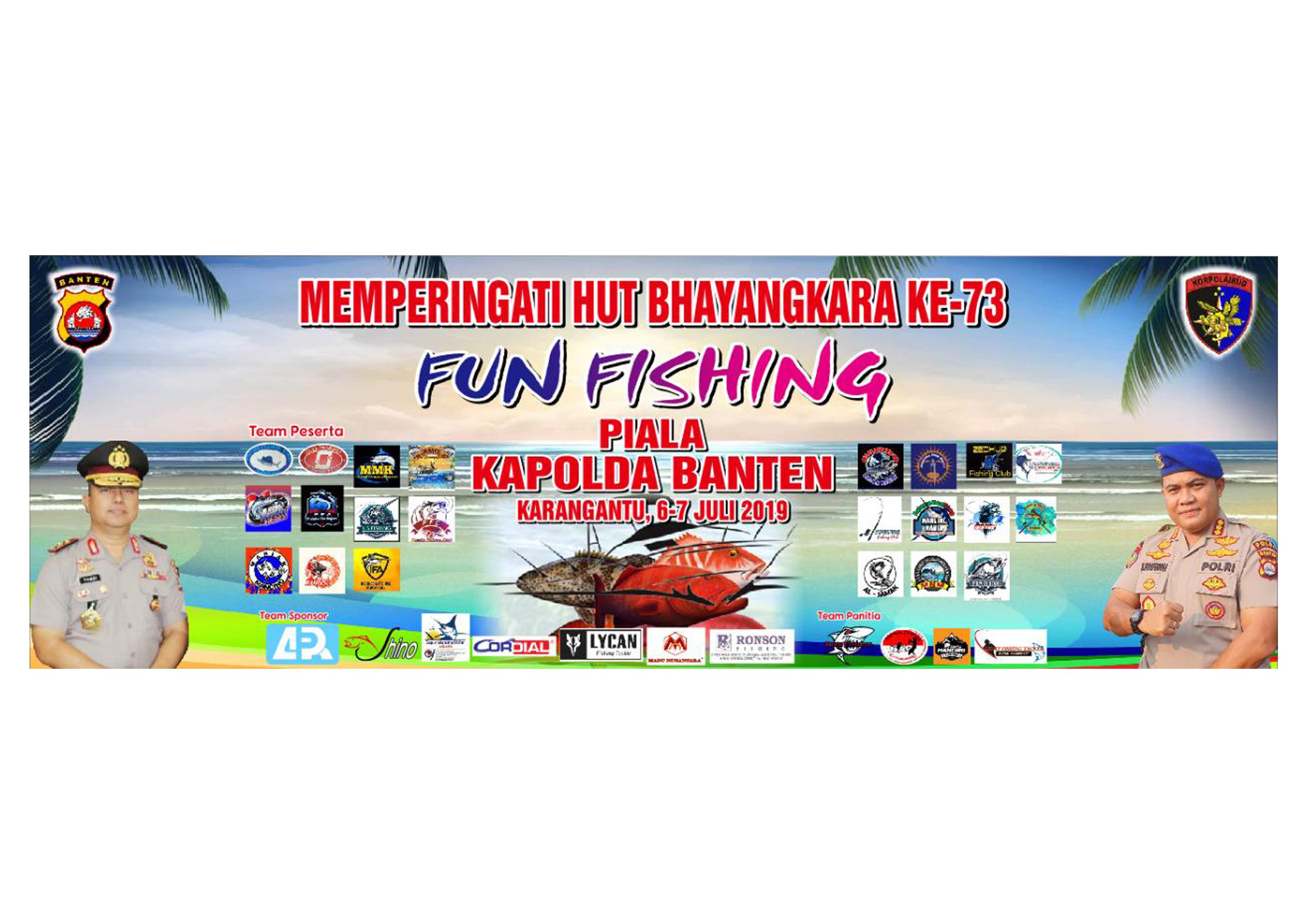 Puluhan Tim Mancing Bersiap Rebut Piala Kapolda Banten