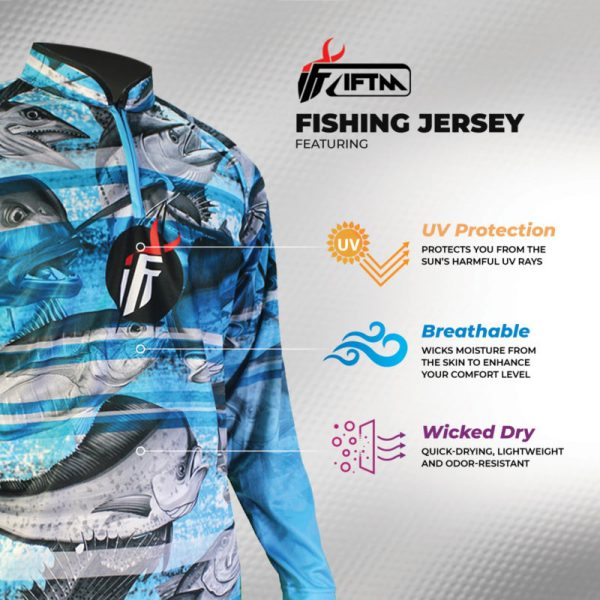 IFTM® COAST GUARD - Jersey Mancing UV Protection